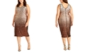 RACHEL Rachel Roy Plus Size Sequin Ombre Midi Dress