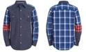 Calvin Klein Big Boys Denim Remix Pieced Colorblocked Shirt