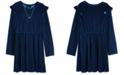 BCX Big Girls 2-Pc. Velvet Skater Dress & Necklace Set