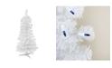Northlight 3' Pre-Lit White Pine Slim Artificial Christmas Tree - Blue Lights