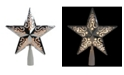 "Northlight 8.5"" Silver Star Cut-Out Design Christmas Tree Topper - Clear Lights"