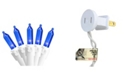"""Northlight Set of 50 Blue LED Mini Christmas Lights 4"""" Spacing - White Wire"""