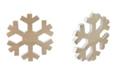 "Northlight 12.5"" Wood Grain Snowflake Christmas Decoration"