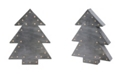 "Northlight 17"" Small Lighted Grey Tree Christmas Table Top Decoration"