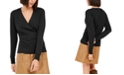 INC International Concepts INC Cashmere Surplice Sweater, Created For Macy's