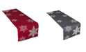 """Xia Home Fashions Glisten Snowflake Embroidered Christmas Table Runner, 16"""" x 70"""""""