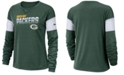 Nike Women's Green Bay Packers Breathe Long Sleeve Top