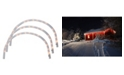 Northlight Set of 3 Clear Lighted Christmas Arch Pathway Markers