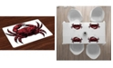 Ambesonne Crabs Place Mats, Set of 4