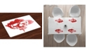 Ambesonne Horror House Place Mats, Set of 4