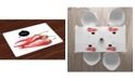 Ambesonne Food Place Mats, Set of 4