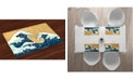 Ambesonne Japanese Wave Place Mats, Set of 4