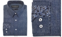 Nick Graham Men's Modern-Fit Denim Shirt