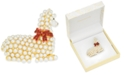 Charter Club Gold-Tone Pavé & Imitation Pearl Llama Pin, Created For Macy's
