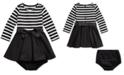 Polo Ralph Lauren Baby Girl's Striped Jersey-Ponte Dress