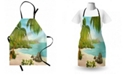Ambesonne Tropical Apron