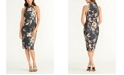RACHEL Rachel Roy Sleeveless Printed Halter Dress