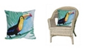 """Liora Manne Visions III Toucan Indoor, Outdoor Pillow - 20"""" Square"""