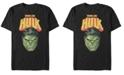 Fifth Sun Marvel Men's Classic Train Like Hulk Big Face, Short Sleeve T-Shirt