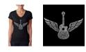 LA Pop Art Women's Word Art V-Neck T-Shirt - Amazing Grace