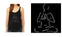 LA Pop Art Women's Premium Word Art Flowy Tank Top- Popular Yoga Poses