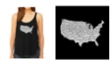 LA Pop Art Women's Premium Word Art Flowy Tank Top- The Star Spangled Banner