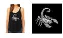 LA Pop Art Women's Premium Word Art Flowy Tank Top- Types Of Scorpions