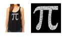 LA Pop Art Women's Premium Word Art Flowy Tank Top- The First 100 Digits Of Pi