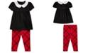 Polo Ralph Lauren Baby Girls Top & Tartan Legging Set