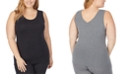 Cuddl Duds Plus Size Softwear With Stretch Reversible Tank Top