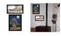 "Trendy Decor 4U Trendy Decor 4U Night Owl Collection By John Ward, Printed Wall Art, Ready to hang, Black Frame, 14"" x 18"""