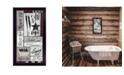 "Trendy Decor 4U Soak Your Cares Away by Linda Spivey, Ready to hang Framed Print, Black Frame, 11"" x 20"""