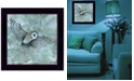 "Trendy Decor 4U Simplicity Owl by Britt Hallowell, Ready to hang Framed Print, Black Frame, 14"" x 14"""