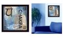 "Trendy Decor 4U Yoga Series - Chakra By Debbie DeWitt, Printed Wall Art, Ready to hang, Black Frame, 14"" x 14"""