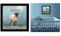 "Trendy Decor 4U Sherlock the Sheep by Bonnie Mohr, Ready to hang Framed Print, Black Frame, 14"" x 14"""