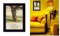 "Trendy Decor 4U Forever By Bonnie Mohr, Printed Wall Art, Ready to hang, Black Frame, 14"" x 10"""