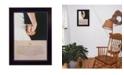 "Trendy Decor 4U I Do By Bonnie Mohr, Printed Wall Art, Ready to hang, Black Frame, 14"" x 10"""