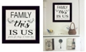 """Trendy Decor 4U Family - This is Us by Cindy Jacobs, Ready to hang Framed Print, Black Frame, 14"""" x 14"""""""