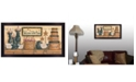 """Trendy Decor 4U Welcome to Our Home By Mary June, Printed Wall Art, Ready to hang, Black Frame, 32"""" x 18"""""""