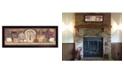 "Trendy Decor 4U Shelf Gathering By Mary June, Printed Wall Art, Ready to hang, Black Frame, 32"" x 12"""