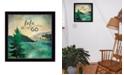 "Trendy Decor 4U This Lake is Calling By Marla Rae, Printed Wall Art, Ready to hang, Black Frame, 14"" x 14"""