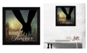 """Trendy Decor 4U Hold My Hand Forever By Marla Rae, Printed Wall Art, Ready to hang, Black Frame, 14"""" x 14"""""""