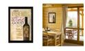"Trendy Decor 4U Good Wine By Marla Rae, Printed Wall Art, Ready to hang, Black Frame, 14"" x 20"""
