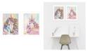 "Trendy Decor 4U Unicorns 2-Piece Vignette by Lisa Morales, White Frame, 14"" x 18"""