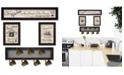 "Trendy Decor 4U Trendy Decor 4U Kitchen Collection VI 4-Piece Vignette with 7-Peg Mug Rack by Millwork Engineering, Black Frame, 32"" x 10"""