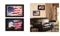 """Trendy Decor 4U Trendy Decor 4U Oh Beautiful America Collection By L. Rader and L. Deiter, Printed Wall Art, Ready to hang, Black Frame, 40"""" x 14"""""""