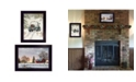 """Trendy Decor 4U Home for Christmas Collection By Bonnie Mohr, Printed Wall Art, Ready to hang, Black Frame, 28"""" x 18"""""""