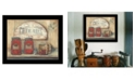 "Trendy Decor 4U CHERRY JAM by Pam Britton, Ready to hang Framed Print, Black Frame, 17"" x 14"""