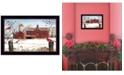 "Trendy Decor 4U Winter Friends by Billy Jacobs, Ready to hang Framed Print, Black Frame, 14"" x 10"""