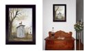 """Trendy Decor 4U Morning Commute Outhouse by Billy Jacobs, Ready to hang Framed Print, Black Frame, 14"""" x 18"""""""